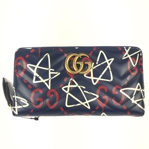 Gucci #448087 Marmont Ghost Leather Wallet